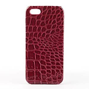 Crocodile Pattern Faux Leather Coated Hard Case for iPhone 5/5S (Assorted Colors)