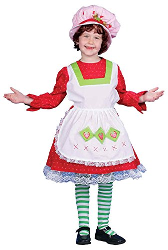 [UHC Fairy Tale Country Girl Strawberry Dress Toddler Kids Halloween Costume, 4T] (Country Girl Halloween Costumes)