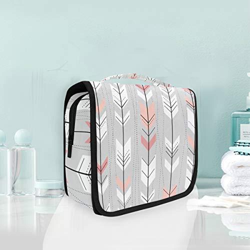 Makeup Bag Tribal Arrow Pattern Cosmetic Portable Travel Hanging Toiletry Bag -