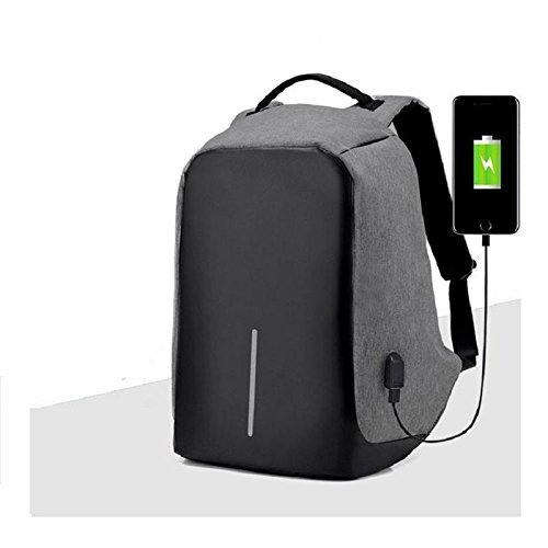 58d4398a791a CABLE GALLERY® Anti Theft Backpack Waterproof Business Laptop Bag with USB  Charging Port for 14 Inch Laptop