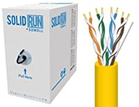 Sewell Direct SW-29875-504 SolidRun by Sewell Cat5e Bulk Cable, 500-Feet, Yellow