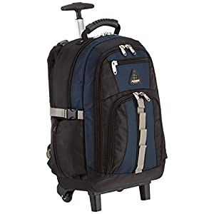 Aoking, zaino trolley da scuola in tela, nero/blu (Blu) - AK510 10 spesavip
