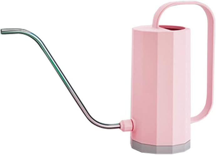 Plastic Small Indoor Watering Can Garden Watering Pot Long Mouth Garden Watering Pot Stainless Steel Long Mouth Watering Can for Houseplants Succulents Seeds and Herbs(Pink)