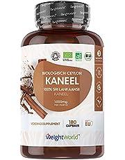 Biologisch Ceylon Kaneel capsules - 500 mg - 180 capsules voor 3 maanden - Ceylon kaneel uit Sri Lanka - Geproduceerd in Europa met geteste ingrediënten