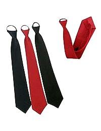 Men's Solid Color Business Affair Shirts Fashion Simple Zipper Neckties Short