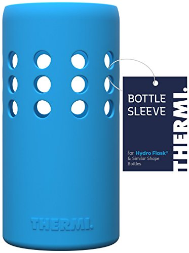 Thermi Protective Silicone Sleeve for Hydro Flask Water Bottles (Frost Blue, 32oz)
