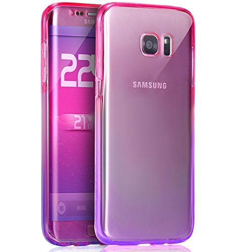 - Cfrau Clear Case with Black Stylus Compatible with Samsung Galaxy S8,Ultra Thin Front and Back Full Body 360 Coverage Shockproof Soft Rubber Flexible TPU Case,Pink Purple