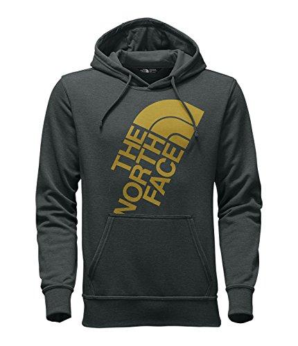 The North Face Men's Jumbo Logo Half Dome Pullover Hoodie, Darkest Spruce Heather/Arrowwood Yellow, ()