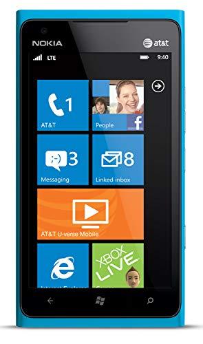 Nokia Lumia 900 AT&T GSM Unlocked 4G LTE Windows 7.5 Smartphone  - Cyan Blue (Renewed)