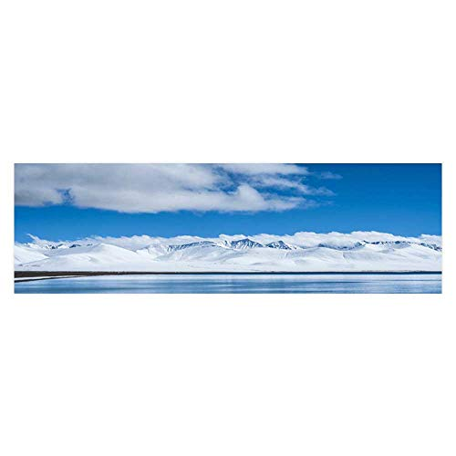 Leighhome Aquarium Background Mountains and Rivers Amber Under The Blue Sky Wallpaper Fish Tank Backdrop Static Cling L29.5 x H21.6