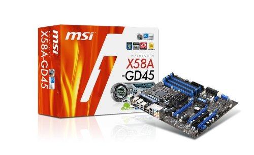 MSI LGA 1366 Intel X58 3 PCIEx16/2 PCIEx1/1 PCI, USB 3.0/SATA 6 GB ATX Motherboard X58A-GD45