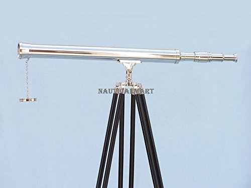 Nauticalmart Floor Standing Chrome Harbor Master Telescope 60''