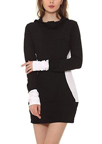 Buy casual hoodie sweatshirt dress - 4