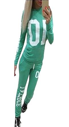 EKU FASHION - Chándal - para Mujer Verde Verde M: Amazon.es: Ropa ...