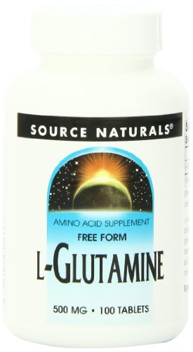 Source Naturals L-Glutamine 500mg Free Form Amino Acid - 100 Capsules