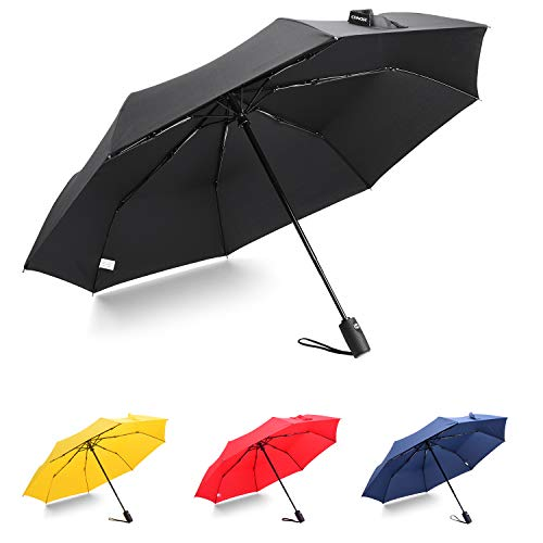 Conor Compact Travel Umbrella with Teflon Coating Auto Open/Close Button for Women Student, Folding Umbrella
