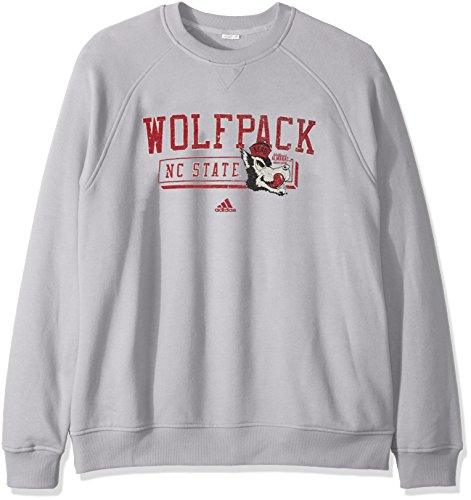State Nc Jacket Wolfpack - NCAA North Carolina State Wolfpack Men's PHYS Ed Class Vault Fleece Crew Sweat Shirt, Large, Stone