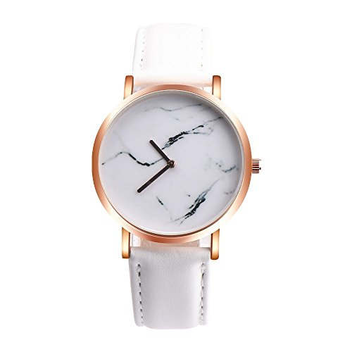 (Womens Marble Surface Quartz Watch,Vickyleb Analog Watches,Clearance Luxury Watches with Round Dial Case,Comfortable Stainless Steel Band Leather Movement Fashion Business Casual Wristwatch)
