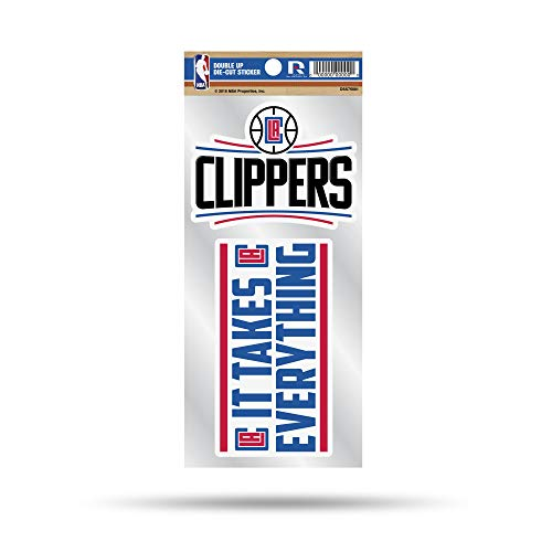 NBA Los Angeles Clippers Double Up Die Cut 2-Piece Sticker Sheet