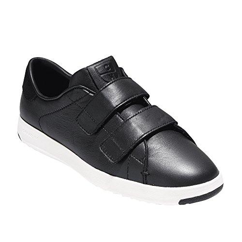 Cole Haan Kvinnor S Grandpro Två Band Sneaker Svart Läder Svart Mocka