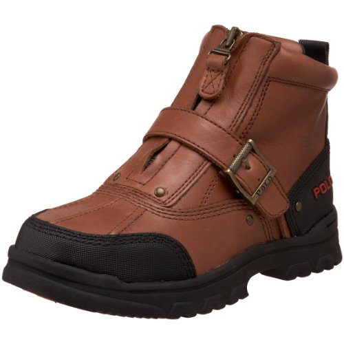 Polo By Ralph Lauren Tyrek Zip II Boot (Toddler/Little Kid/Big Kid),Brandy Leather,6 M US Big Kid