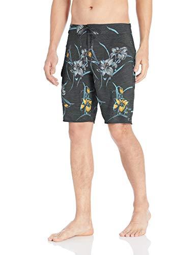 Billabong Men's All Day Floral Pro Boardshorts Black 38 ()
