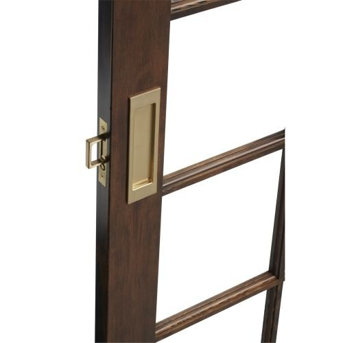 Baldwin PD005.PASS Santa Monica Passage Pocket Door Set with Door Pull from the, Venetian Bronze