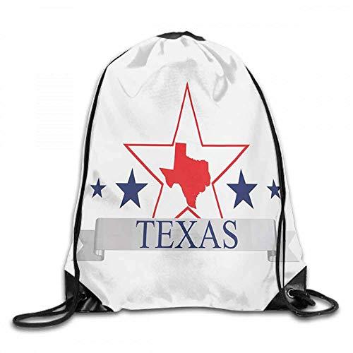 Texas Star Sports backpack San Antonio Dallas Houston Austin Map with Stars Pattern USA W14