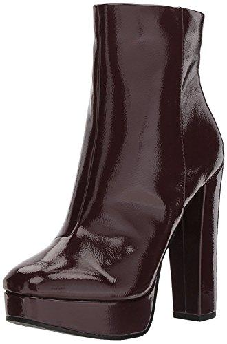 Jessica Simpson Women's SEBILLE Fashion Boot, Rouge Noir, 9.5 Medium US (Platforms Jessica Leather)