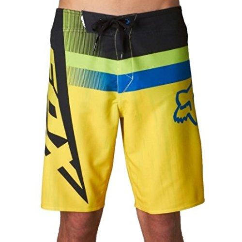 Fox Racing Mens Alchemy Boardshort, Day Glo Yellow, 31