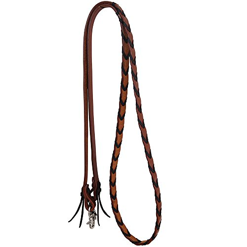 Rafter T Ranch Co Leather Laced Barrel Reins