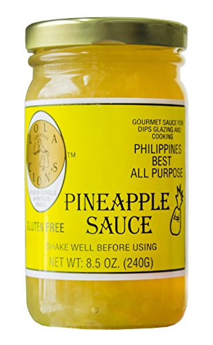 Pineapple Sauce Ham - Lola Cion's Pineapple Sauce (8.5 oz.) Natural, Gluten-Free Multipurpose Glaze, Dressing, Topping, or Dip | Sweet, Low-Sugar Flavor | Cooking and Baking