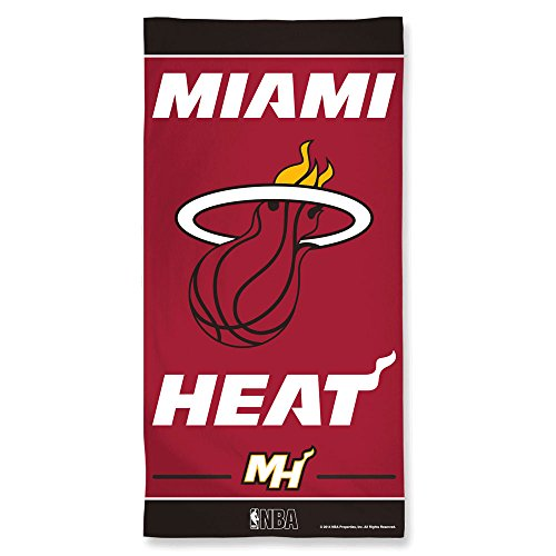 WinCraft Miami Heat Pool Beach Bath Gym Towel Large 30'' X 60'' with Official NBA Basketball Sports Team Logo by WinCraft