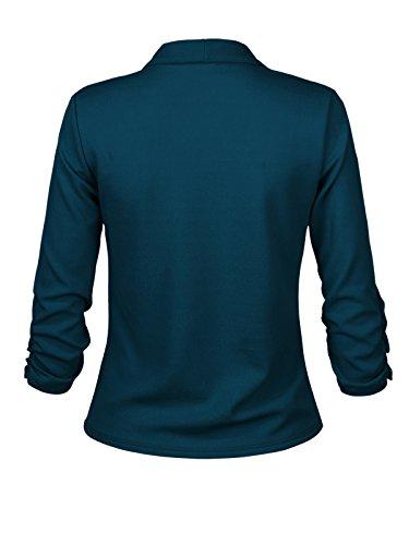 Instar Mode Women's Versatile Business Attire Blazers in Varies Styles (B12316 Green, Medium) by Instar Mode (Image #2)