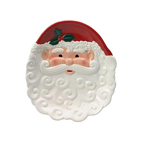 Pfaltzgraff Winterberry Santa Figural Cookie Plate, 8-Inch