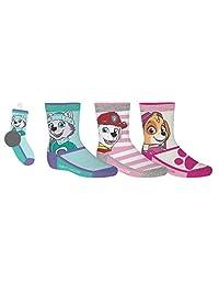 Paw Patrol Girls Sport Socks 3 Pairs 12-24 Months Shoe Size 5-8