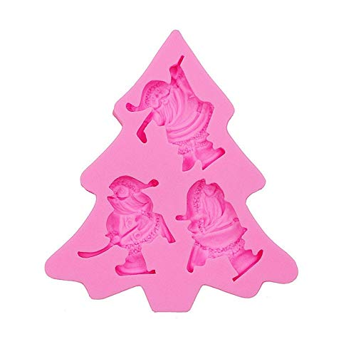 Gadgets Molds Santa Claus Silicone Flexible Push Mold Scrapbooking Mold Mini Resin Mold - pink -