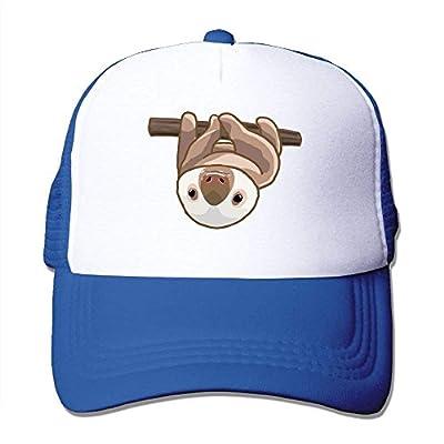 Hanging Sloth Adjustable Snapback Baseball Cap Custom Mesh Trucker Hat from cxms