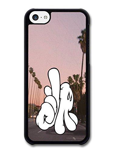 White Gloves Sign of LA Palm Trees Sunset Stylish Fashion case for iPhone 5C