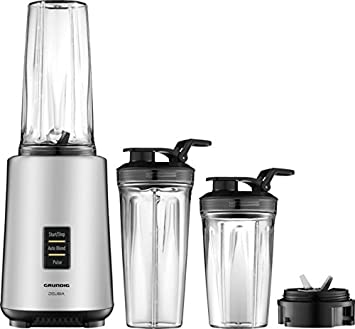 Grundig SM 7680 Personal Power Blender, 0.7 l, 1000 W, acero inoxidable/negro: Amazon.es: Hogar