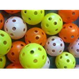 JL Golf balls, Airflow practice-bag of 24 assorted colours
