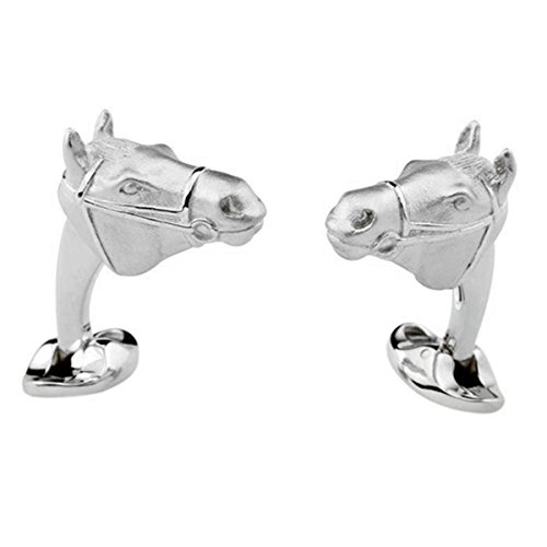 - Deakin and Francis Sterling Silver Horse Head Cufflinks