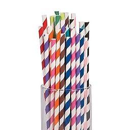Striped Paper Straws Mega Pack 2 units