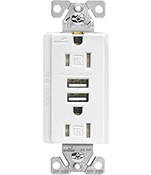 cooper wiring tr7745w k commercial spec grade usb receptacle 125 v rh amazon com Cooper Wiring Eyes Cooper Complete Wiring