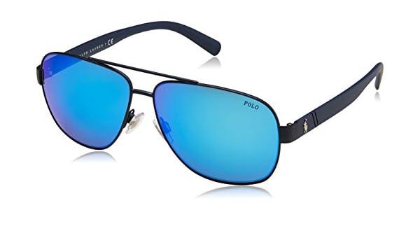 POLO RALPH LAUREN 0PH3110 Gafas de sol, Matte Navy Blue, 60 ...