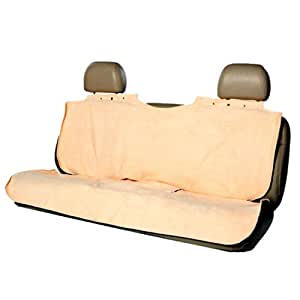 bergan deluxe poncho rear protector tan automotive pet seat covers pet supplies. Black Bedroom Furniture Sets. Home Design Ideas