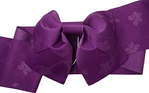 [sakura Traditional Japanese Pre tied obi belt for women Yukata Kimono with Deep purple sakura] (Ninja Suits For Sale)