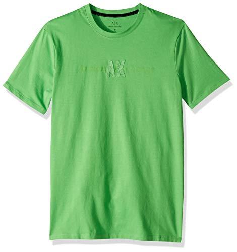 A|X Armani Exchange Men's Short Sleeve Crew Neck Logo T-Shirt, Classic Green M - Armani T-shirts Green Mens