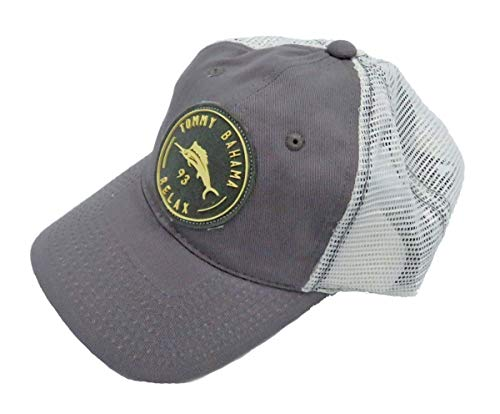 - Tommy Bahama Men's Unstructured Mesh Back Baseball Cap Grey One Size
