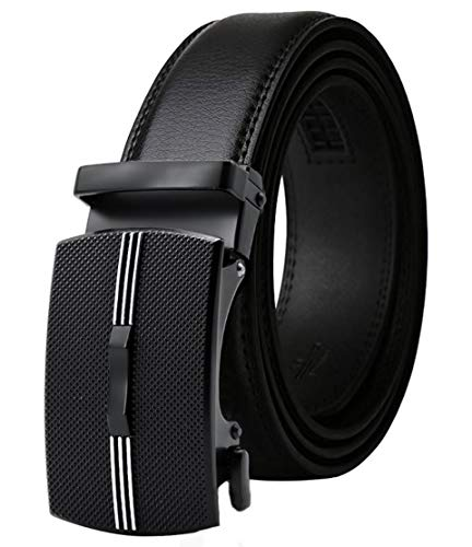 Men's Belt,West Leathers Slide Ratchet Belt for Men with Genuine Leather 1 3/8,Trim to Fit (Adjustable from 20